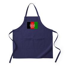 Afghanistan flag Apron (dark)