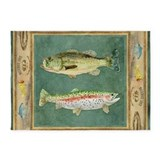 Fishing cabin lake lodge plaid decor area 5x7 Rugs