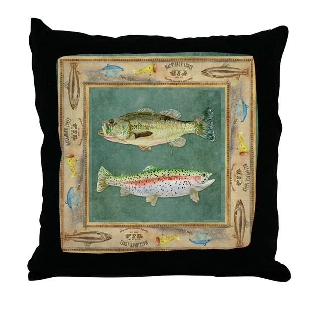 Throw Pillows Meaning : Fishing Cabin Lake Lodge Plaid Decor Throw Pillow by Admin_CP113518717
