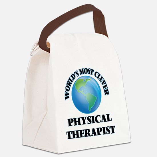 World's Most Clever Physical Ther Canvas Lunch Bag