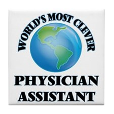 World's Most Clever Physician Assista Tile Coaster