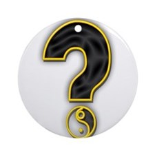 Gender Query Ornament (Round)