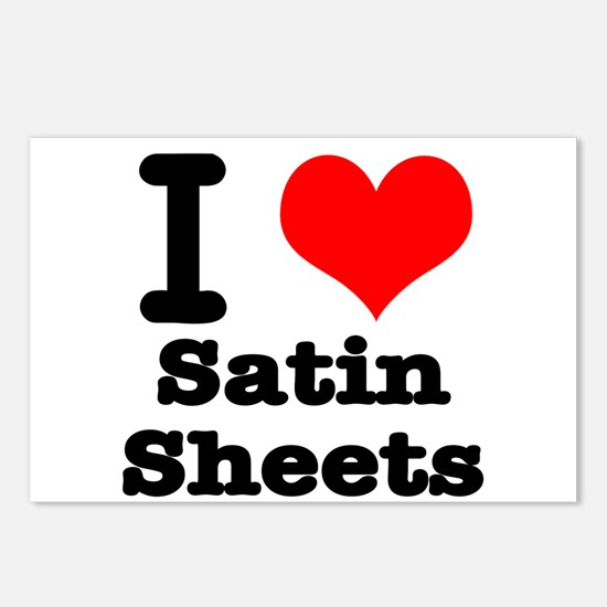 I Heart (Love) Satin Sheets Postcards (Package of