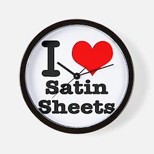 I Heart (Love) Satin Sheets Wall Clock