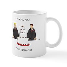 Thanks from Civil Partnership grooms. Mug