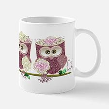 Two Brides Cute Wedding Owls Art Mugs