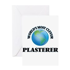 World's Most Clever Plasterer Greeting Cards