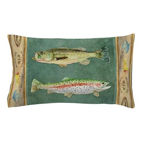Fishing Cabin Lake Lodge Plaid Decor Pillow Case By Admin Cp113518717