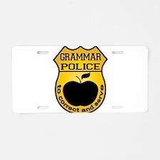Grammar Police Aluminum License Plate
