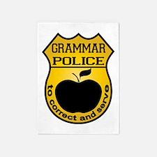 Grammar Police 5'x7'Area Rug
