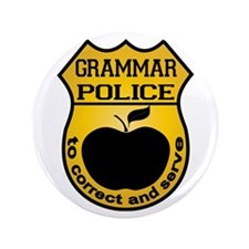 "Grammar Police 3.5"" Button (100 pack)"