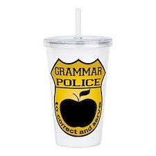 Grammar Police Acrylic Double-wall Tumbler