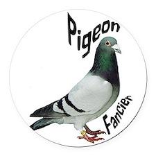 Pigeon Fancier Round Car Magnet