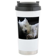 Cute West highland terrier christmas Travel Mug