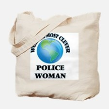 World's Most Clever Police Woman Tote Bag