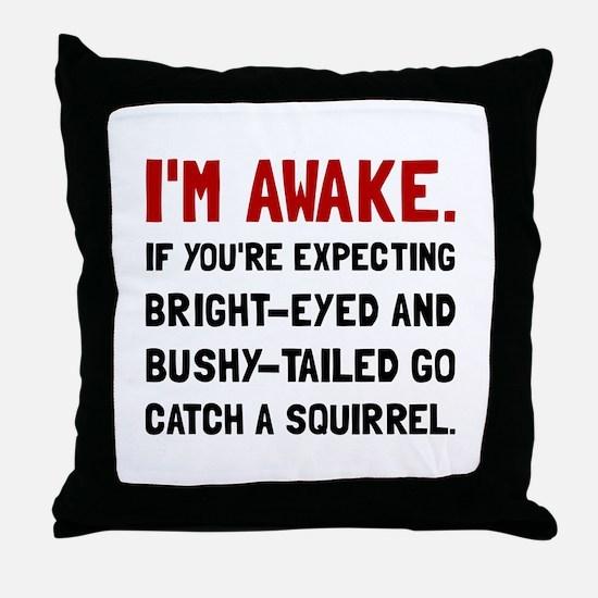 Go Catch Squirrel Throw Pillow