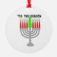 'tis The Season Menorah Ornament