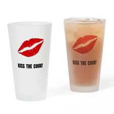 Kiss The Cook Drinking Glass
