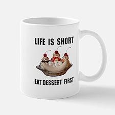 Life Short Dessert Mugs