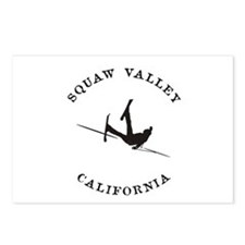 Squaw Valley California Funny Falling Skier Postca