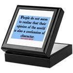 EMERSON - CHARACTOR QUOTE Keepsake Box