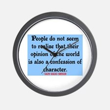 EMERSON - CHARACTOR QUOTE Wall Clock