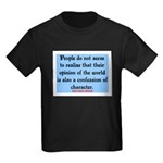 EMERSON - CHARACTOR QUOTE Kids Dark T-Shirt