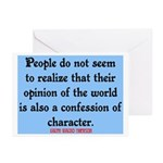 EMERSON - CHARACTOR QUOTE Greeting Cards (Pk of 10