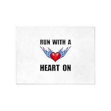 Run Heart On 5'x7'Area Rug
