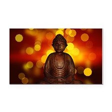 Cute Buddha Rectangle Car Magnet