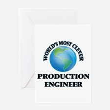 World's Most Clever Production Engi Greeting Cards