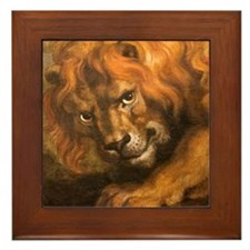 Rubens lion Framed Tile