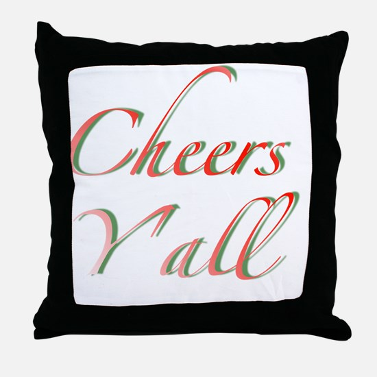 Cheers Y'all Throw Pillow