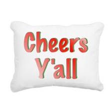 Cheers Y'all Rectangular Canvas Pillow