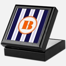 Orange B Monostripe Keepsake Box