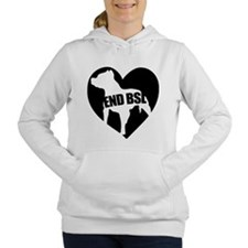 Cool Bully breed rescue Women's Hooded Sweatshirt