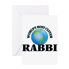 World's Most Clever Rabbi Greeting Cards