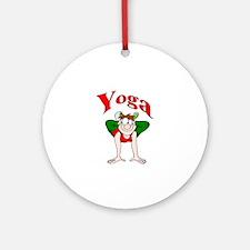 Yoga Man 2 Ornament (Round)