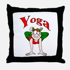 Yoga Man 2 Throw Pillow