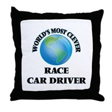 World's Most Clever Race Car Driver Throw Pillow