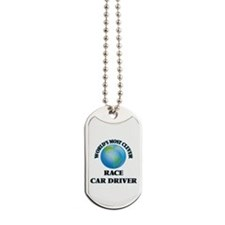 World's Most Clever Race Car Driver Dog Tags