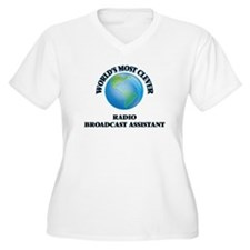 World's Most Clever Radio Broadc Plus Size T-Shirt