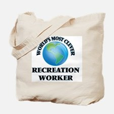 World's Most Clever Recreation Worker Tote Bag