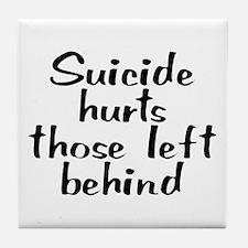 Suicide hurts - Tile Coaster