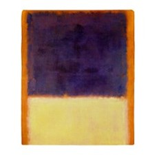 rothko-orange box with purple & yellow Throw Blank