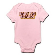 Baby on Board - Pink Infant Bodysuit