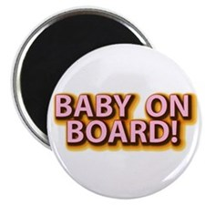 Baby on Board - Pink Magnet