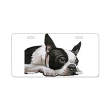 Cute Boston terrier Aluminum License Plate