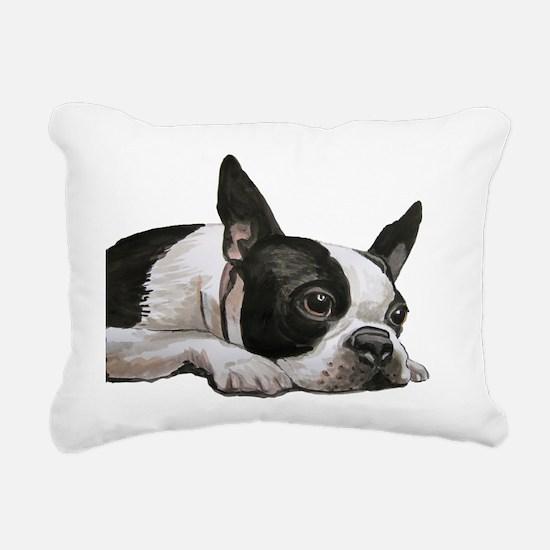 Cute Tired Rectangular Canvas Pillow