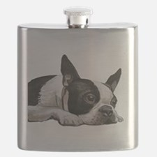 Unique Boston terriers Flask